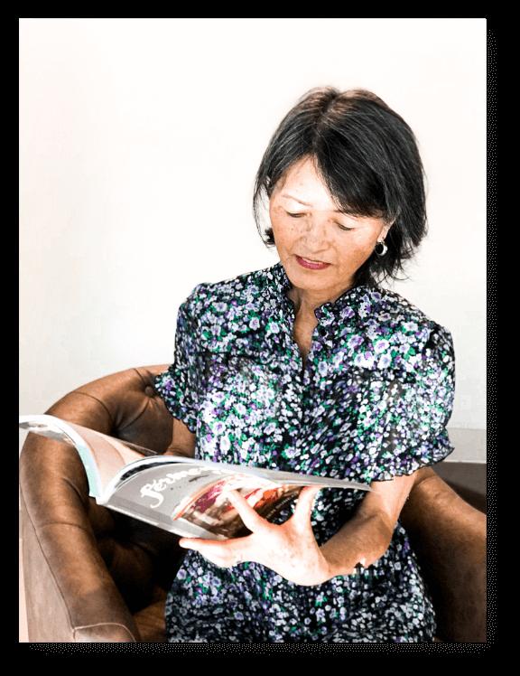 kayoko takeda lendo livro retangular - Sobre