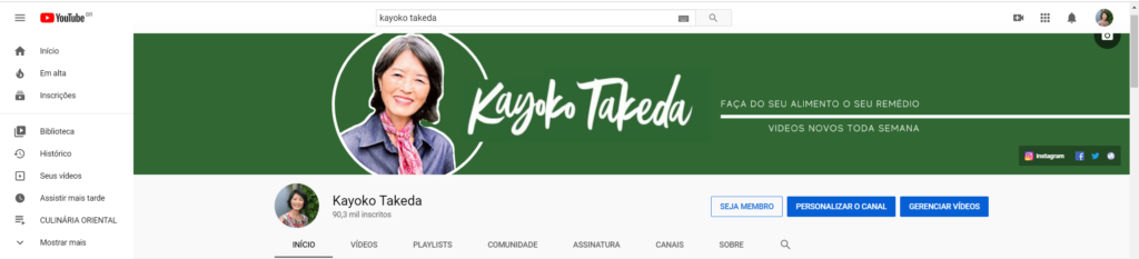 Kayoko Takeda pagina inicial